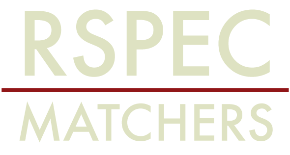 RSpec Matchers [cheatsheet]